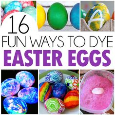 It's getting closer to Easter and we're always excited to do our family tradition of dyeing Easter eggs.Every year I try to stay away from the store bought kits and try to come up with a fun and different idea that we can do ourselves. So I've rounded up 16of the coolest ways to decorate …