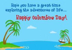 #HappyColumbuDay Greeting Message Card #usa #america #columbus