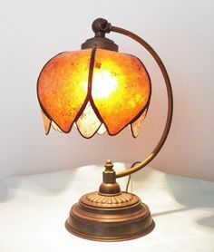 Antique Vintage 30's or 40's Table Desk Lamp with NYM by NYMArts, $175.00