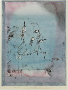 The Twittering Machine, 1922, by Paul Klee. Amazing predictor of the future?
