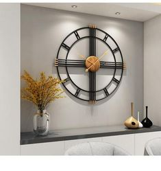 There is always many products on sae upto - Simple wall clock European style wrought iron personality living room clocks creative fashion mute home modern decorative clock - Pro Buyerz Interiores Art Deco, Living Room Clocks, Big Wall Clocks, Wall Clock Design, Modern Art Deco, Clock Decor, Clock Art, Iron Wall, Metal Wall Decor