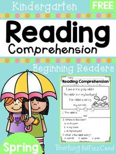 FREE Spring Reading  For Beginning Readers4 Free Emergent Reading Comprehension and Fluency Passages.To see the full packet here:Reading Comprehension For Beginning Readers Spring EditionThese reading comprehension passages are great for literacy centers, guided reading, homework and more!!These READING COMPREHENSION AND FLUENCY PASSAGES will give your students confidence in reading.You may also be interested in:Reading Fluency and Comprehension (Set 1)Reading Fluency and Comprehension (Set…
