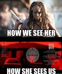 Michonne, The Walking Dead  YES!!!!!!!  BINGO!!!!!!!