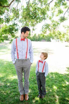 color in the tie/suspenders!