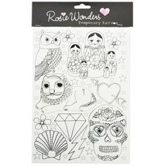 Simple Outline (Temporary Tattoos) ($9.46) ❤ liked on Polyvore featuring accessories and body art