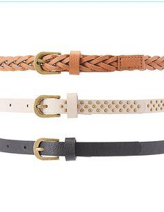 Studded, Braided, & Textured Belts - 3 Pack #charlottelook