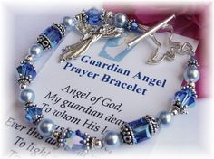 May the Guardian Angel Bracelet, based on the well known prayer, be a reminder of the presence of our constant heavenly companion. Angel of god, my guardian dear, To whom His love commits me here, Ever this day be at my side, To light and guard, to rule and guide. Amen