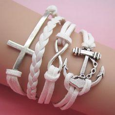 Modisches Armband mit Anker