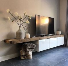35+ Creative Wooden TV Stands Design Ideas #wooden #tvstand #woodentvstanddesignideas