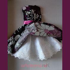 Vestido estampado de flores para Nancy ( incluye patrón ) – Artesanía N&K
