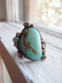 First Pebbles Turquoise Ring size seven and a half by ragandstone, $112.00