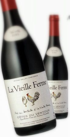 French wine with chickens on the label.