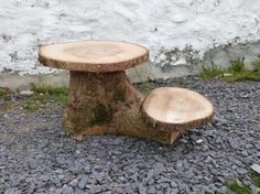 Unique rustic wood cake stand Wedding Cake by CakeCarousel on Etsy, £50.00