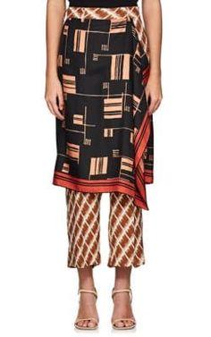289ea159e6 We Adore  The Panax Skirt-Overlay Silk Pants from Dries Van Noten at  Barneys New York