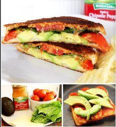 Chipotle Veggie Cheese Panini Recipe via Back to School Recipe book