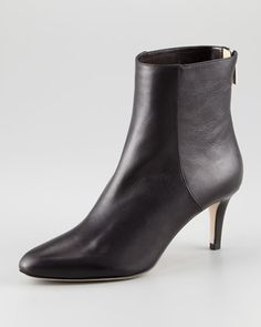 "Brody Leather Ankle Bootie by Jimmy Choo at Neiman Marcus.  2-1/2"" heel $775"