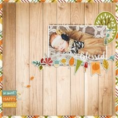 Digital scrapbook layout by Rachael Sheedy featuring the Fall Is In The Air mega collection by Echo Park available at www.snapclicksupply.com #digitalscrapbooking