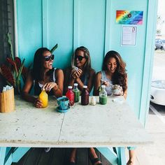 """First Pit Stop KAUAI Juice Co  you walk inside and they hand you a shot of like turmeric and chilis that makes your stomach tingle cold and jolts you wide awake haha. ⚡️ besides the  amazing  juice we got some beasty summer rolls (they put a pickle inside!) tasted just next level!!) other place worth mentioning was this tiny hole in the wall called  @sushigirlkauai and got """" Sushi Burritos"""" ! They wrapped veggie sushi is soy paper  Loving  @corinnegold and @chelseakauai love adventu..."""