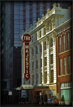 """""""Majestic,"""" The historic Majestic Theatre located at 1925 Elm Street in downtown Dallas, Texas."""