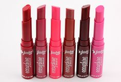 jordana easyshine glossy lip color - 2 dollars at walgreens. This is seriously the best lip color I have found. Berry Colada and Sugar Cookie are my two favorites. Shiny smooth color.