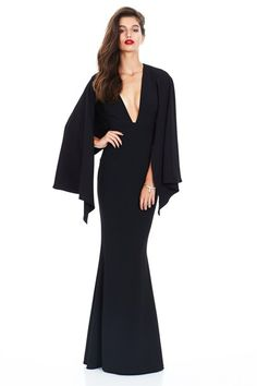Black Dahlia Cape Gown : Buy Designer Dresses Online at Nookie