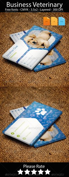 Business Card Veterinary  #GraphicRiver
