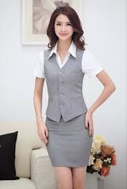 Resultado de imagen para uniformes ejecutivos con chalecos para damas