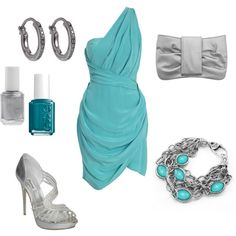 Teal Dress, created by jen-weisz. Party Dresses For Women, Wedding Dresses, Teal And Grey, Blue, Dressed To The Nines, Glitz And Glam, Working Hard, Little Dresses, Girly Outfits