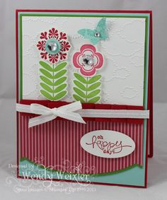More 2013 Spring Catalog goodness - Cloudy Day Textured Impressions Embossing Folder, Large Rhinestones, Bitty Butterfly Punch by Wendy Weixler at Fab Friday