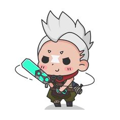 Ekko League Of Legends, League Of Legends Characters, Anime Chibi, Kawaii Anime, Master System, Lol Champions, Emo Art, Character Wallpaper, Hello Kitty