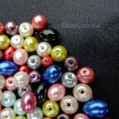 150 Mixed Colour Round and Oval Glass Pearl Beads for Jewellery Making 6 & 8 mm Jewelry Making Beads, Jewellery Making, Pearl Beads, Color Mixing, Colour, Pearls, Glass, Board, How To Make