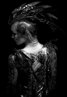 FIREBIRD: Headdress & Winged Harness designed and made by Rob Goodwin  Photographer: Diego Indraccolo