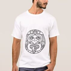 Aztec Man T-Shirt - tap, personalize, buy right now! Aztec T Shirts, Fitness Models, Shirt Designs, Casual, Fabric, Sleeves, Mens Tops, Cotton, How To Wear