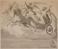 Elias in the Chariot of Fire von Johann Friedrich Overbeck