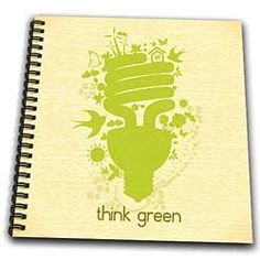 Amazon.com: Think Green Earth Day Conserve Energy Eco-Friendly Light Bulb Design - Memory Book 12 X 12 Inch: Arts, Crafts & Sewing