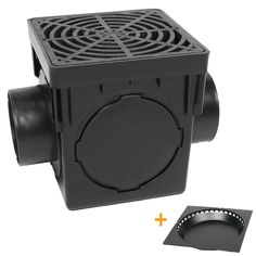 StormDrain Square Black Catch Basin Drain Box and Grate Kit with Debris Trap Filter – Catch Basins – Landscape & Drainage Backyard Drainage, Landscape Drainage, Backyard Landscaping, Landscaping Ideas, French Drain Installation, Drainage Installation, Clogged Pipes, Drain Pipes, Catch Basin Drain