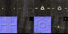 The fourth sci-fi floor (fabiobrasiliense.com, 2014) Game Textures, Uni, Sci Fi, Neon Signs, Floor, Design, Pavement, Science Fiction, Boden