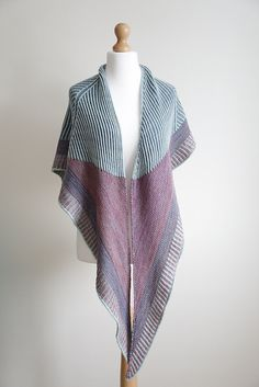 Ravelry: 15 Triangles Brioche Shawl pattern by Anna Sedova