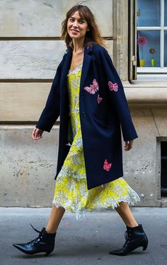 How to Still Wear Your Summer Dresses Long Past August via @WhoWhatWearUK