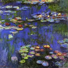 """Monet - """"Water Lillies""""   Take this one off my bucket list too!!  Monet was amazing and his gardens will leave you speechless."""