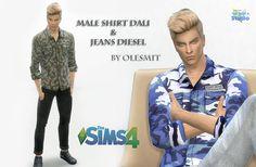 OleSims: Männliches Hemd und Jeans