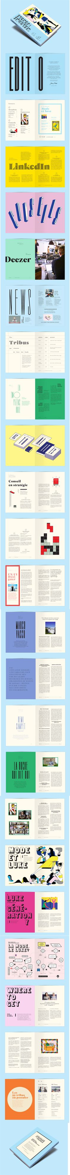 Editorial layout design magazine