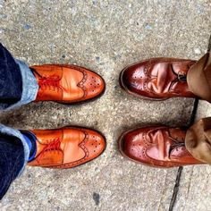 Hers and His: Vass Budapesters & Alden Whiskey Longwings