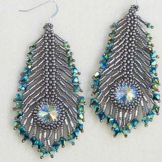 beautiful peacock fe  beautiful peacock feather earrings   #beadwork  https://www.pinterest.com/pin/356769601709858385/   Also check out: http://kombuchaguru.com