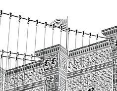 The Brooklyn Bridge in Letterpress Type
