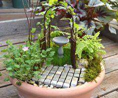 polymer clay fairy garden - Google Search