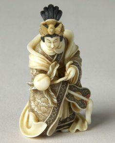 JAPANESE OKIMONO | Netsuke | JAPANESE OKIMONO IVORY CARVINGS; NETSUKE