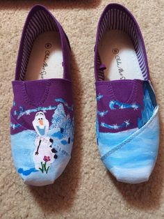 Canvas shoes made to order with any disney (or non disney) scene or design. Shoes made with acrylic paint and coated with waterproof spray.