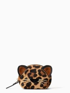 run wild leopard-print dumpling coin purse | Kate Spade New York