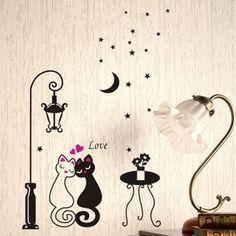 Love Cat Wall Sticker